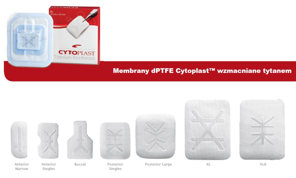 Membrany dPTFE Cytoplast™ wzmacniane tytanem